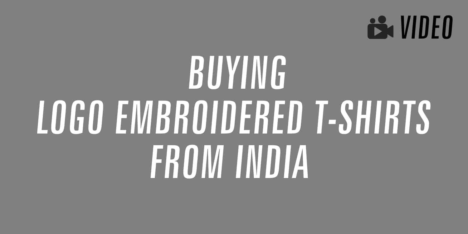 logo embroidered t-shirts india