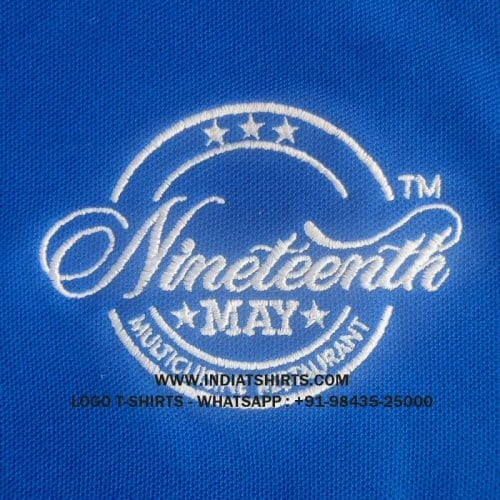 logo embroidery on t-shirts
