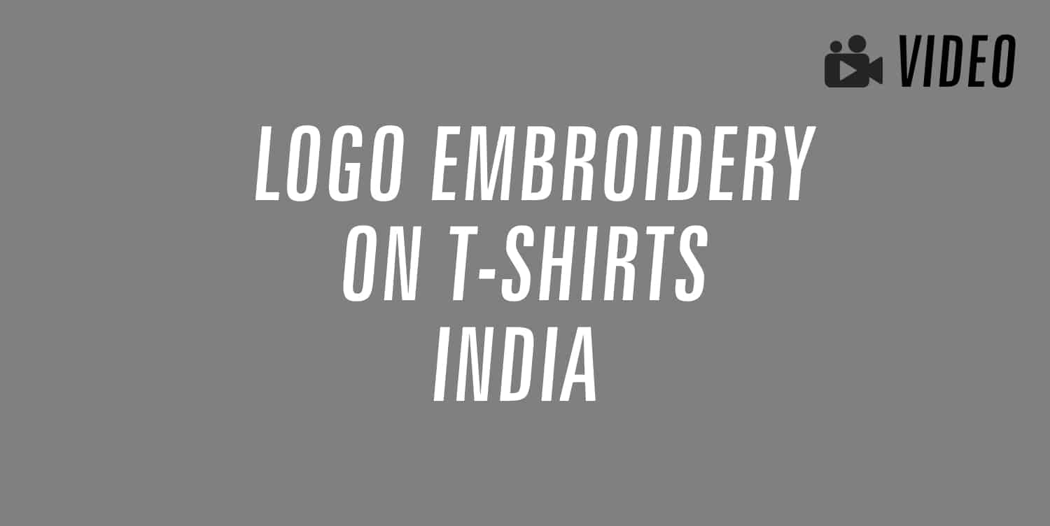 logo embroidery on t-shirts india