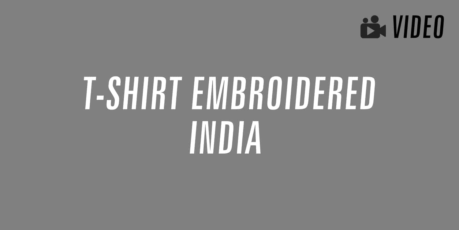 t-shirt embroidered india