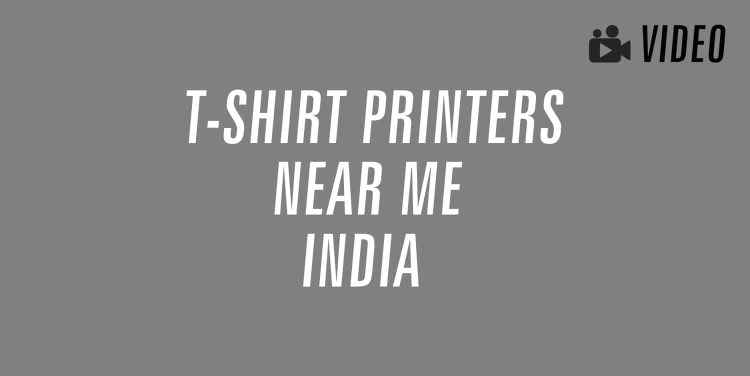 t-shirt printers near me in india
