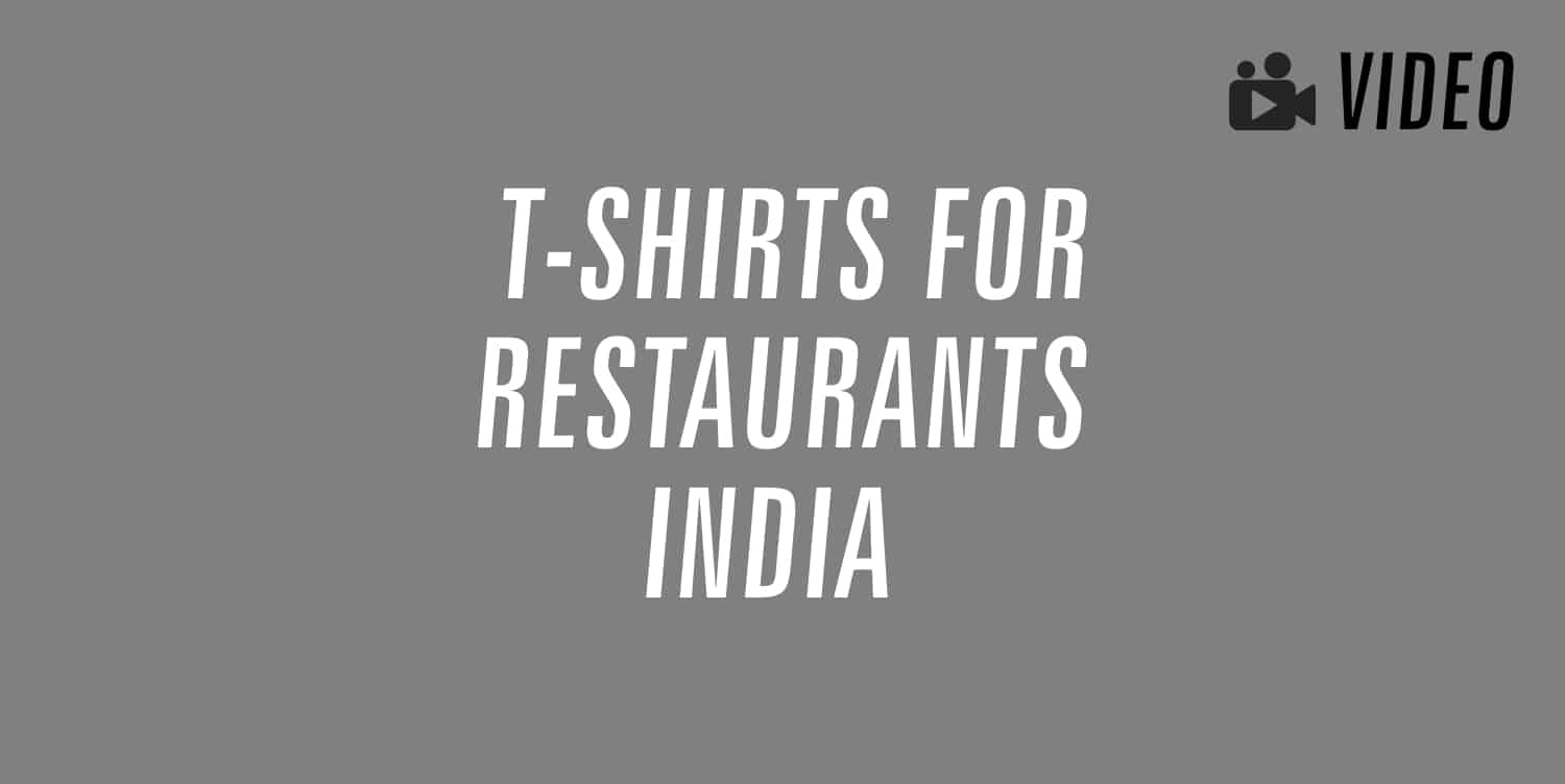t-shirts for restaurants india