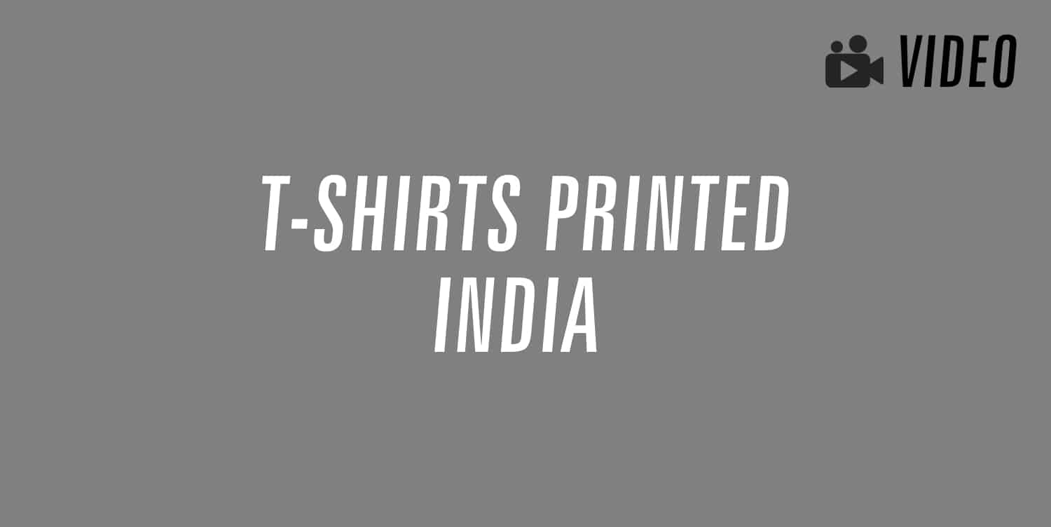 t-shirts printed in india