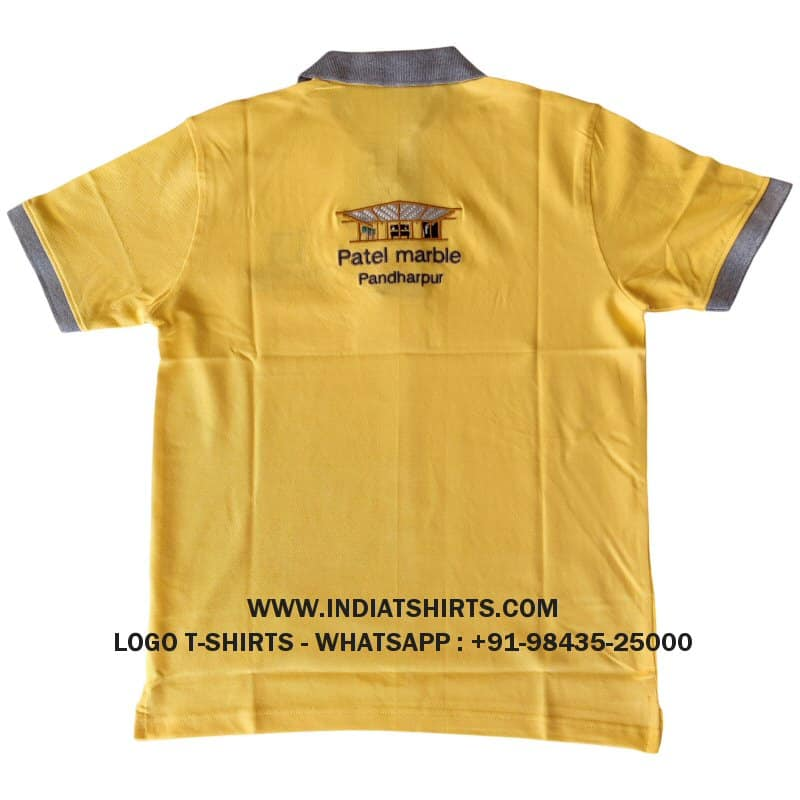two color logo collar t-shirts